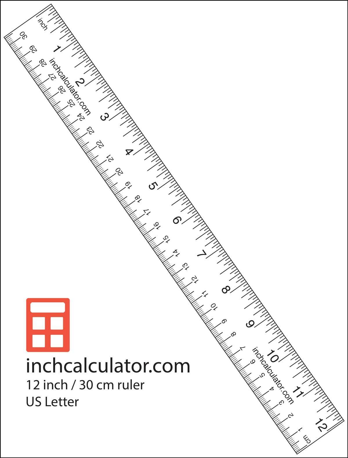 "Printable Rulers - Free Downloadable 12"" Rulers   Printable"