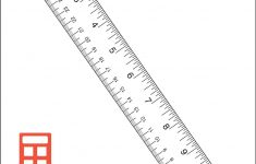 Printable Inch Ruler To The 1/4 In