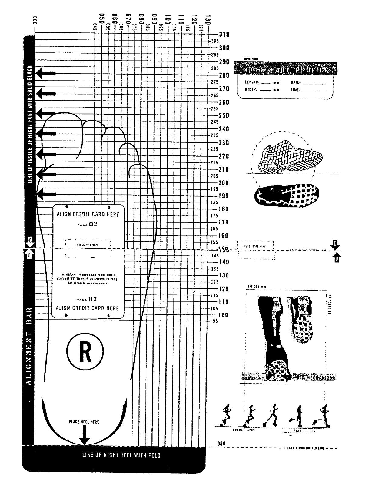 Printable Shoe Size Chart | Activity Shelter