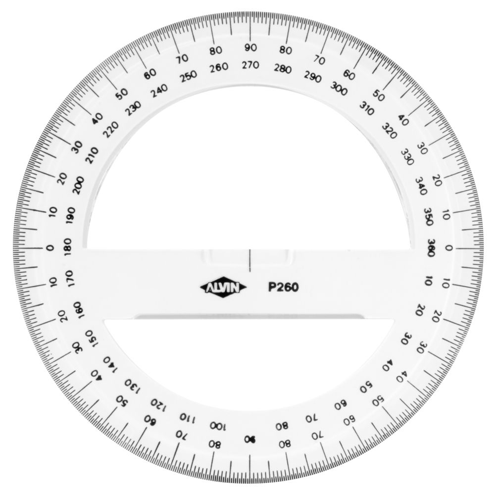 Printable+360+Degree+Protractor | Circle Template, Coloring