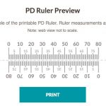Pupillary Distance Ruler Print Out