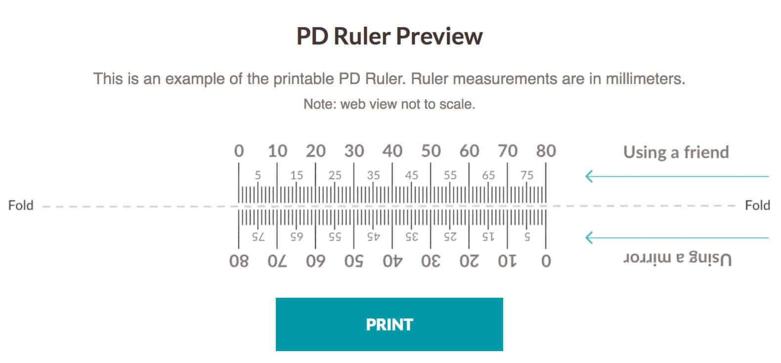 Pupillary Distance Ruler Print Out