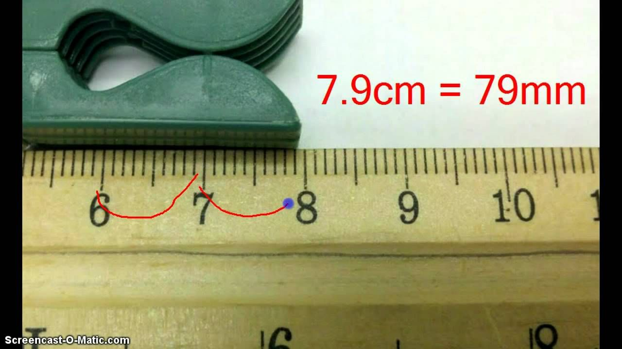 Reading A Metric Ruler | Science Skills, Math Measurement