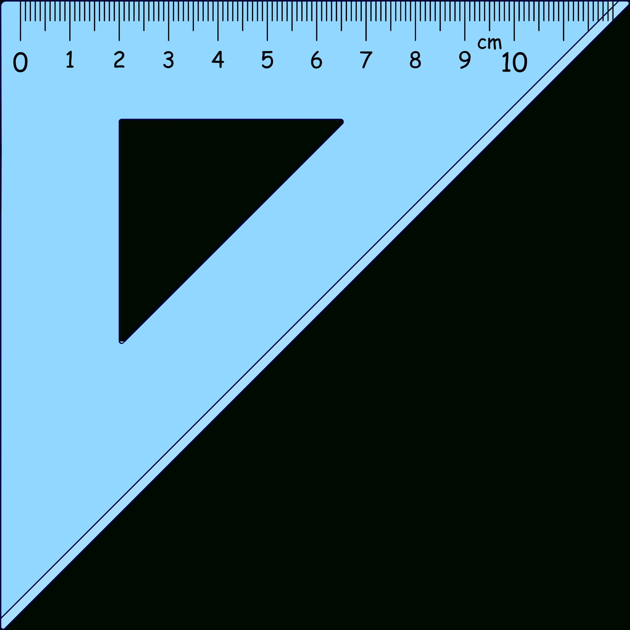 Right Angle Ruler Clipart