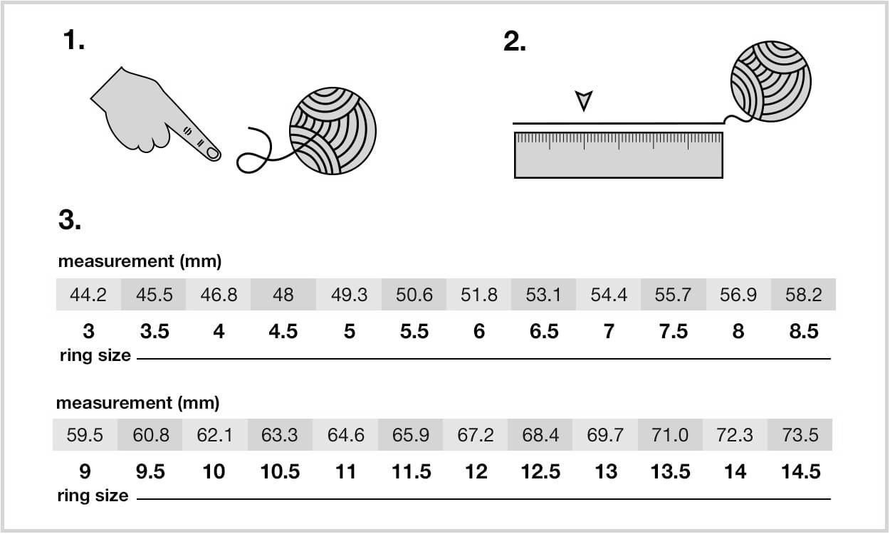 Ring Size Guide - Huut Store