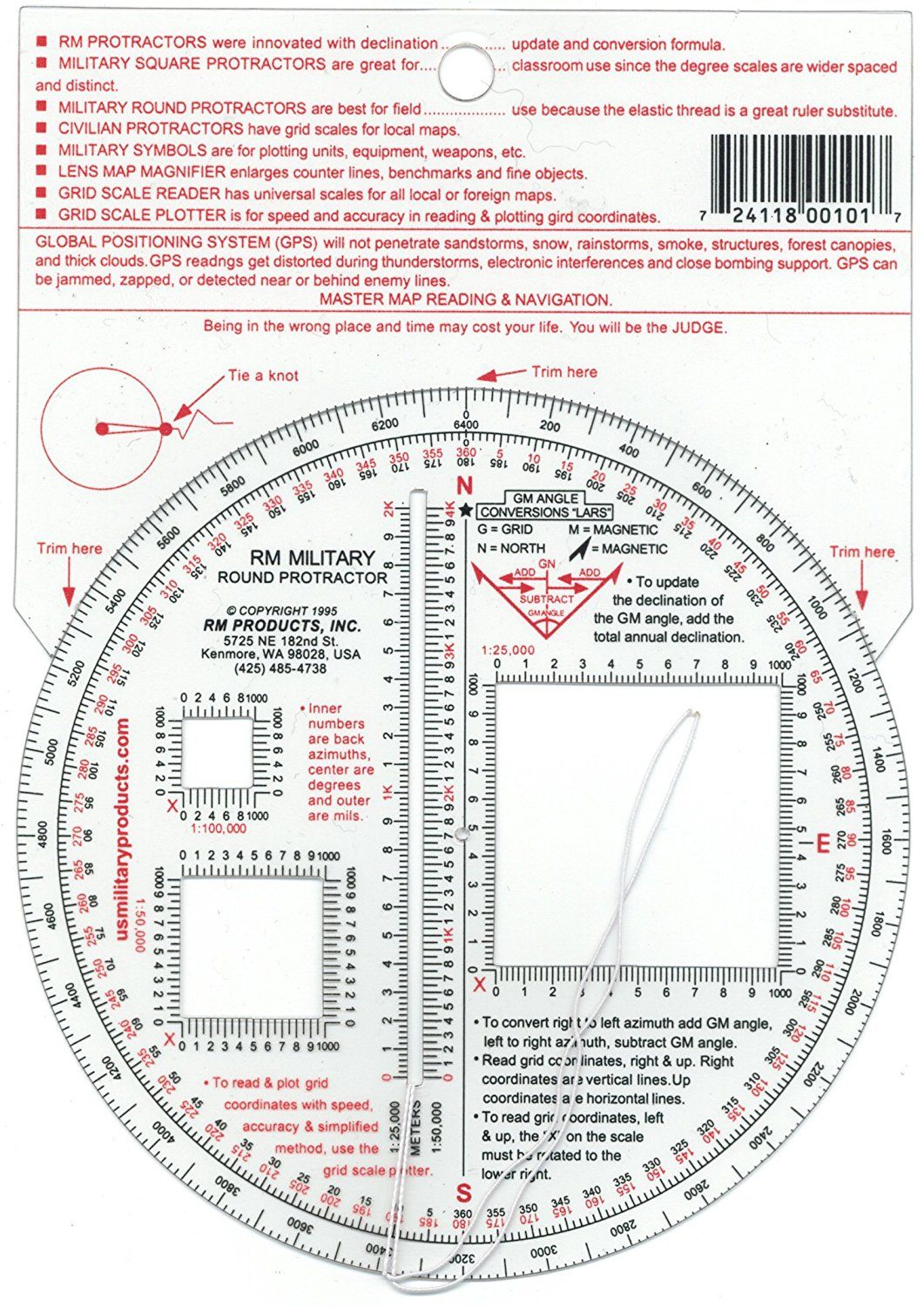 Rm Products Military Round Protractor * Click Image To