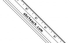 Printable Machinist Ruler
