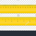 Ruler Inches And Cm Scale. Vector School, Plastic Yellow
