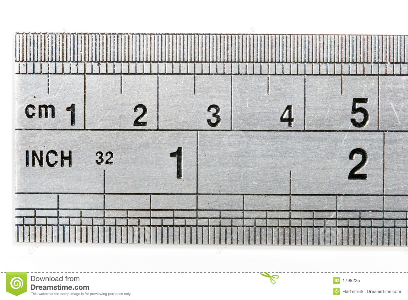 Ruler Showing Both Metric And Imperial Measures Of Length