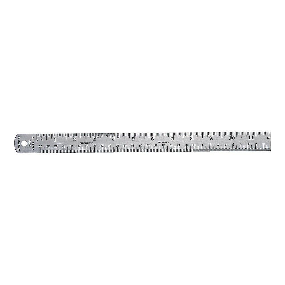 "Staedtler® Stainless Steel Ruler, 12"""