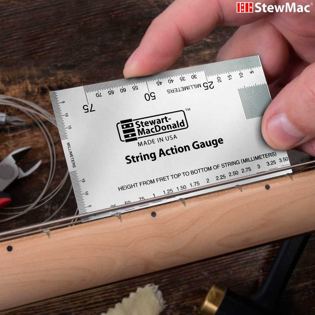 Stewmac Metric String Action Gauge Ruler | Madinter