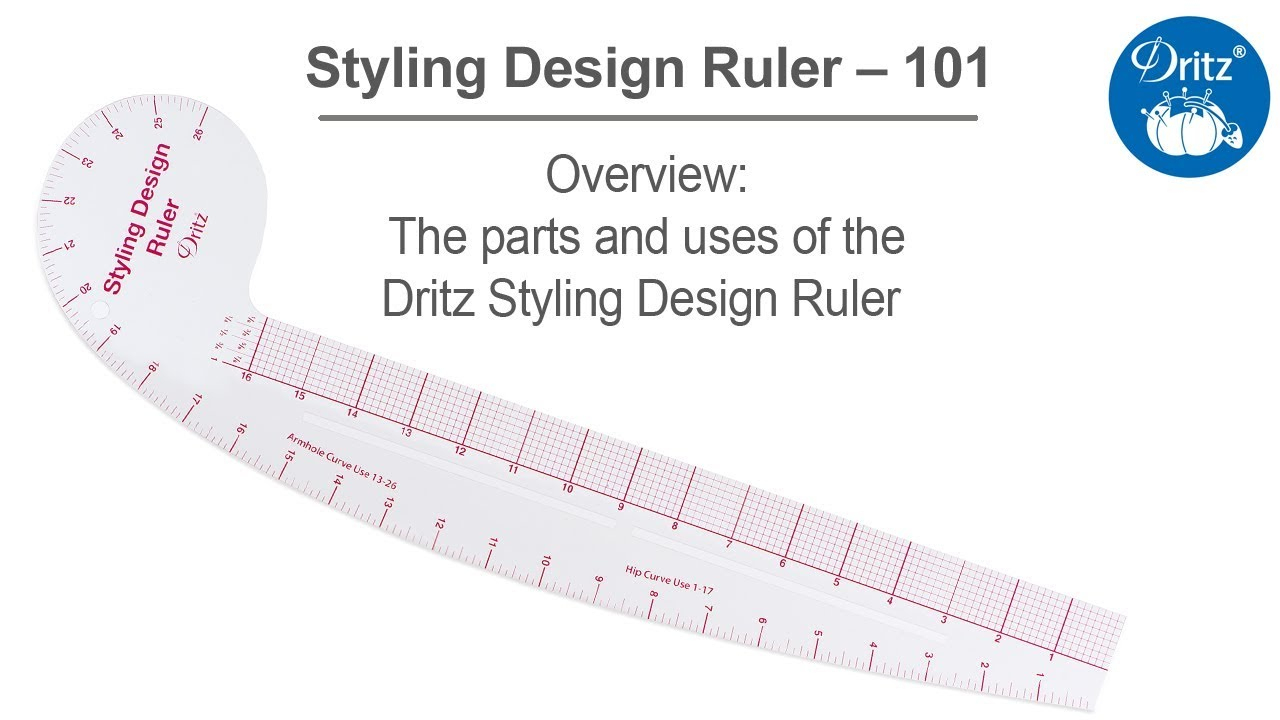 Styling Design Ruler 101 Series – The Parts And Uses Of The Dritz Styling  Design Ruler