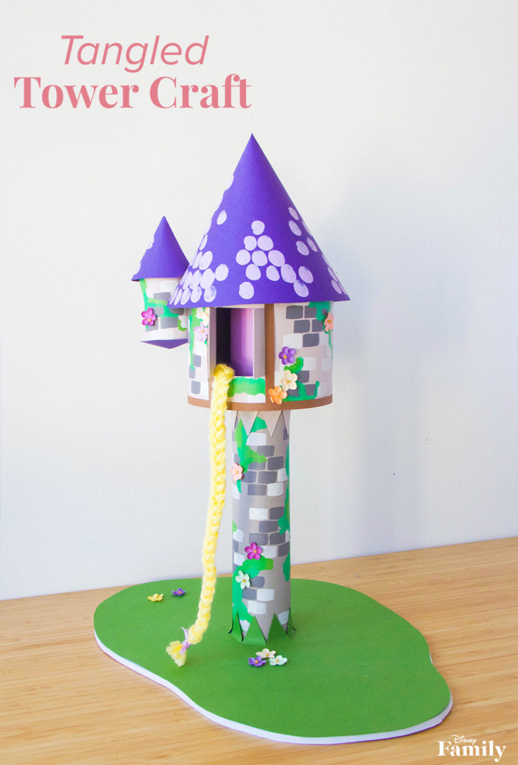 Tangled Tower Craft Is Perfect For Your Little One's Room