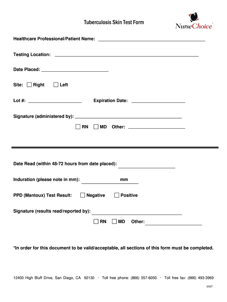 Tb Test Form - Fill Online, Printable, Fillable, Blank