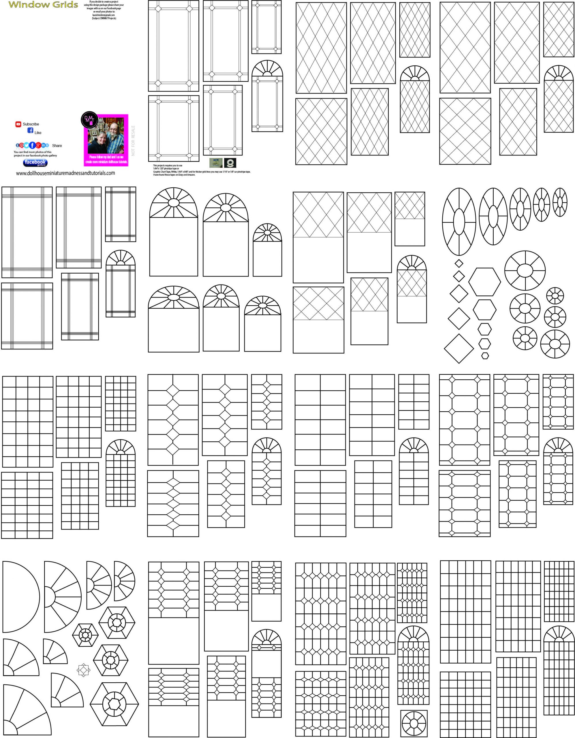 Templates-Other Misc | Doll House, Ruler Gifts, Templates