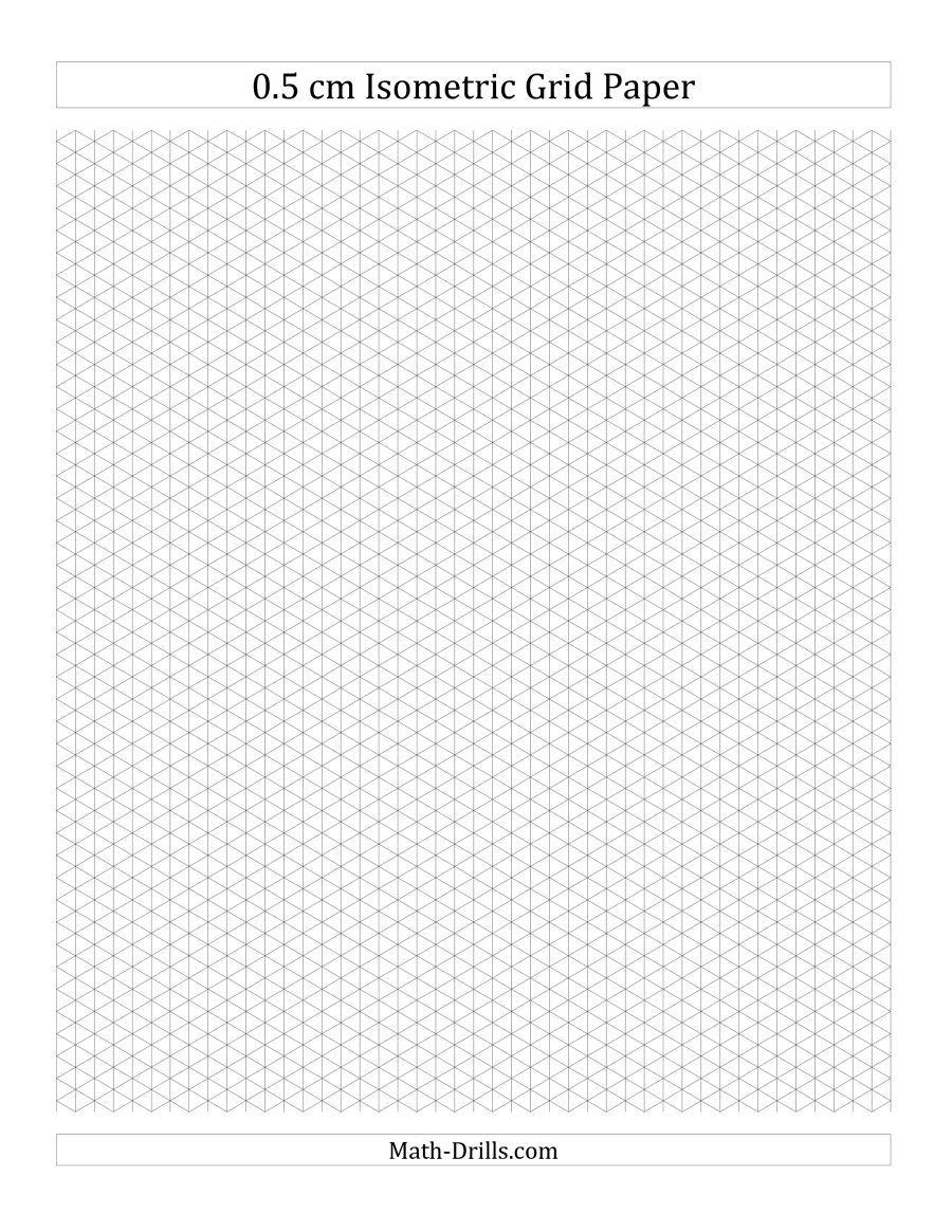 The 0.5 Cm Isometric Grid Paper (Portrait) (A) Math