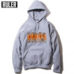 The Size That Ruler (Ruler) Fellowes Sweat Hoodie Parka Men Street Brand  Thick Back Raising Sweat Shirt Pullover Black Gray White S M L Xl Xxl In  The