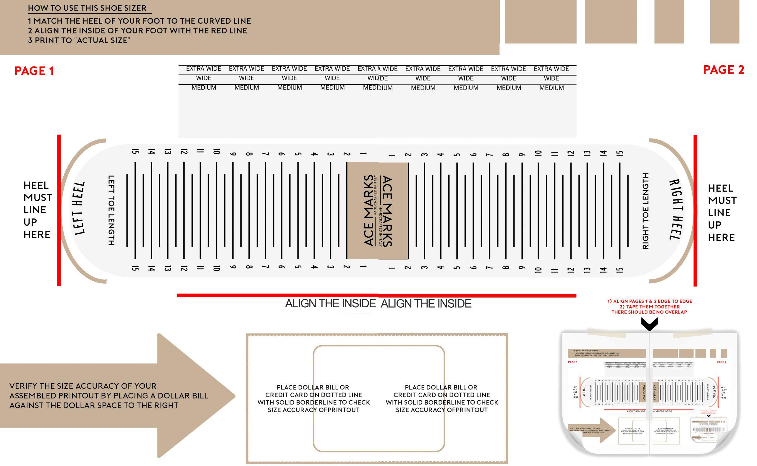 Top Printable Foot Measure   Katrina Blog