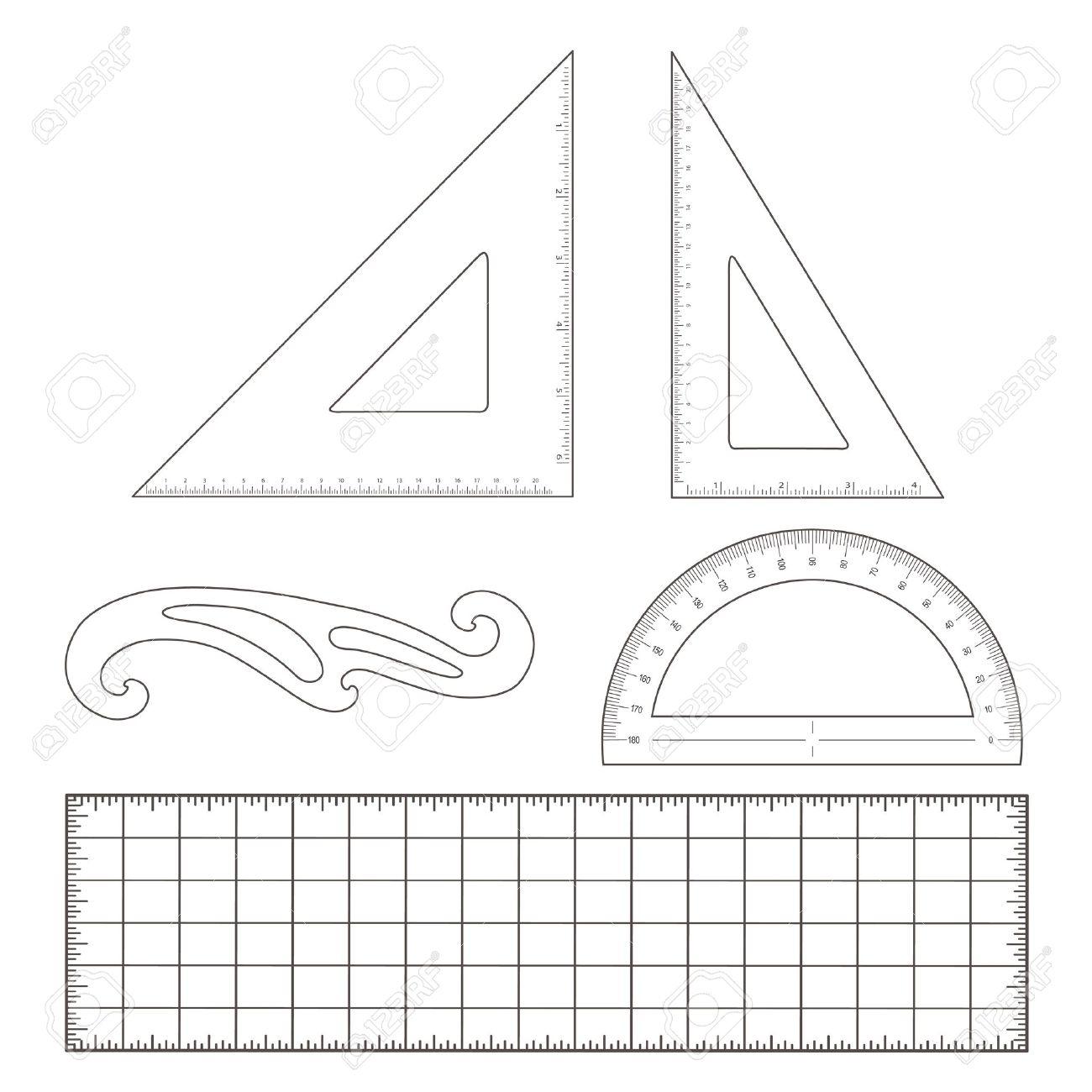 Triangle Protractor Clipart