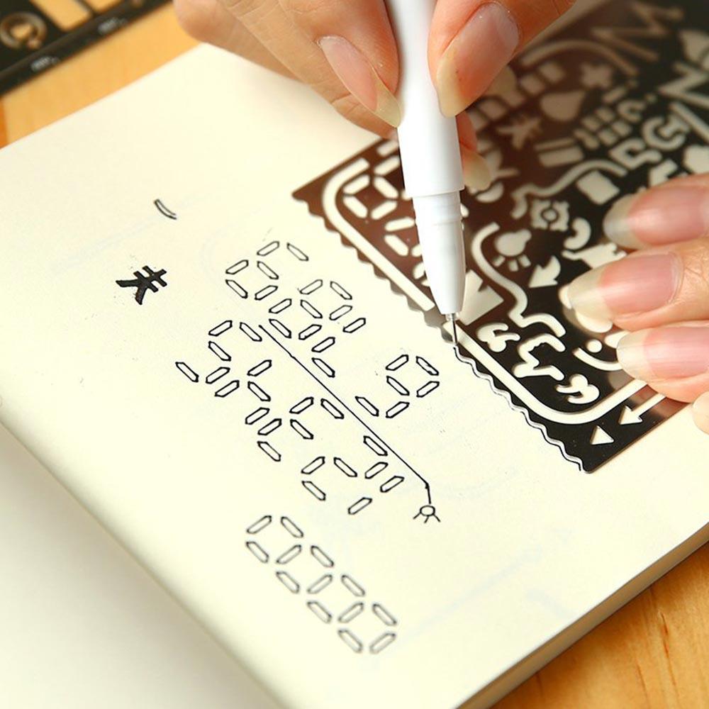 Us $1.8 5% Off|Hollow Metal Ruler Craft Dies Drawing Template Ruler  Scrapbooking Metal Travel Diary Notebook Diy Tool Template  Decoration|Rulers| | -