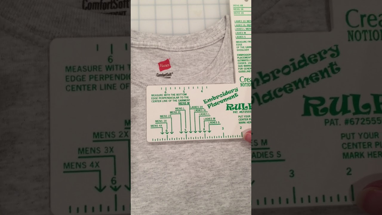 Using The Embroidery Placement Ruler