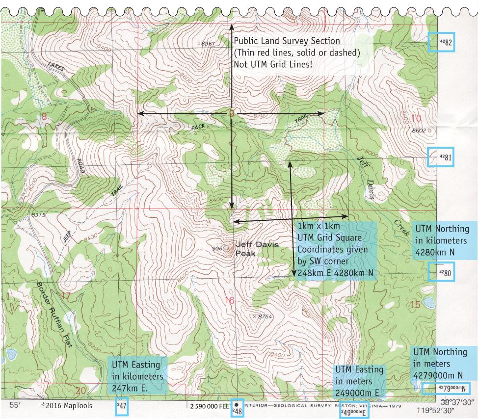 Utm Coordinates On Usgs Topographic Maps