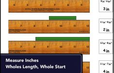 Printable Fractional 12 Inch Ruler