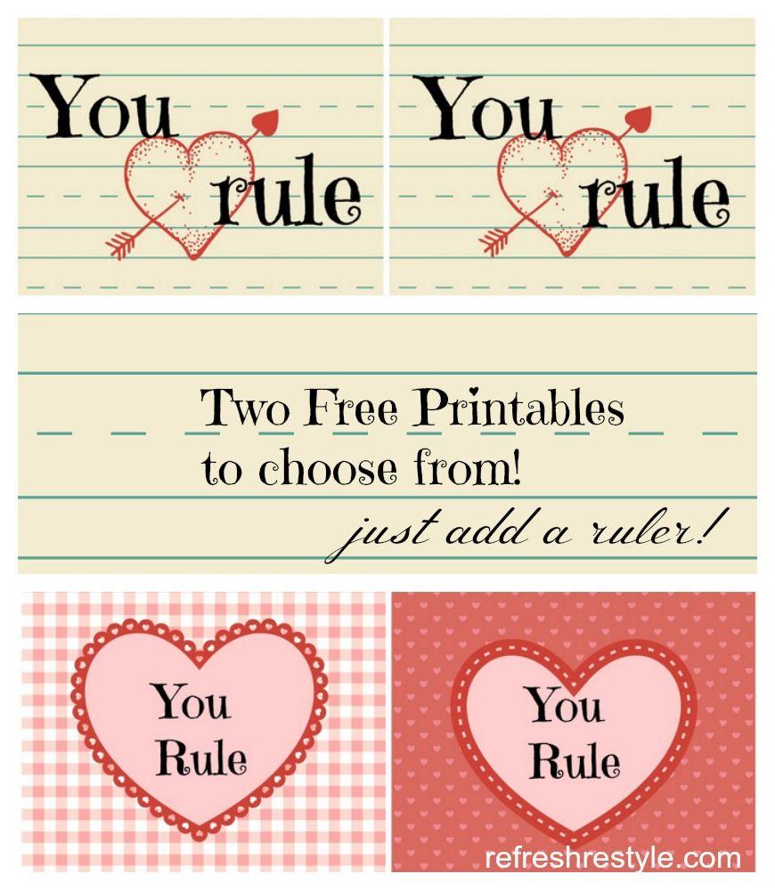 You Rule Valentine Printables | Valentines Printables Free